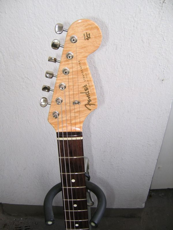 FENDER USA Custo-Shop 1960ri STRATOCASTER Flamed Maple TOP+Kopfplatte! SuperKlang+excellenter Player