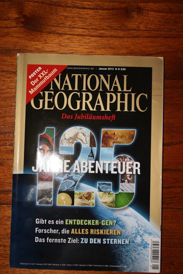 National Geographic - 12 Hefte - Jg. 2013