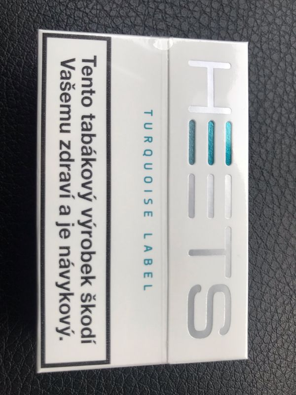 Heets Turquoise Menthol ( Blue Label, Amber, yellow und Sienna)