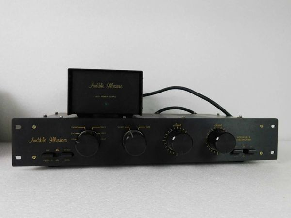 AUDIBLE ILLUSIONS MODULUS 3A PREAMP mit goldenen John Curl mc Phono Boards