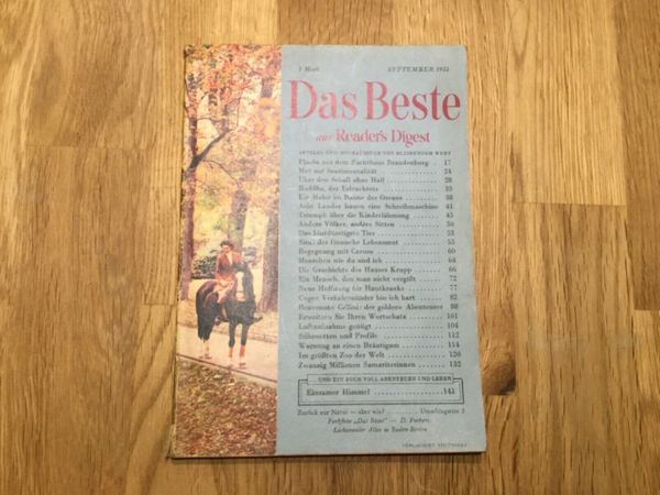 Das Beste aus Reader?s Digest - September 1955