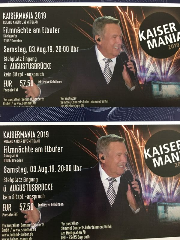 Roland Kaiser - Kaisermania - 03.09.2019 - 2 Tickets