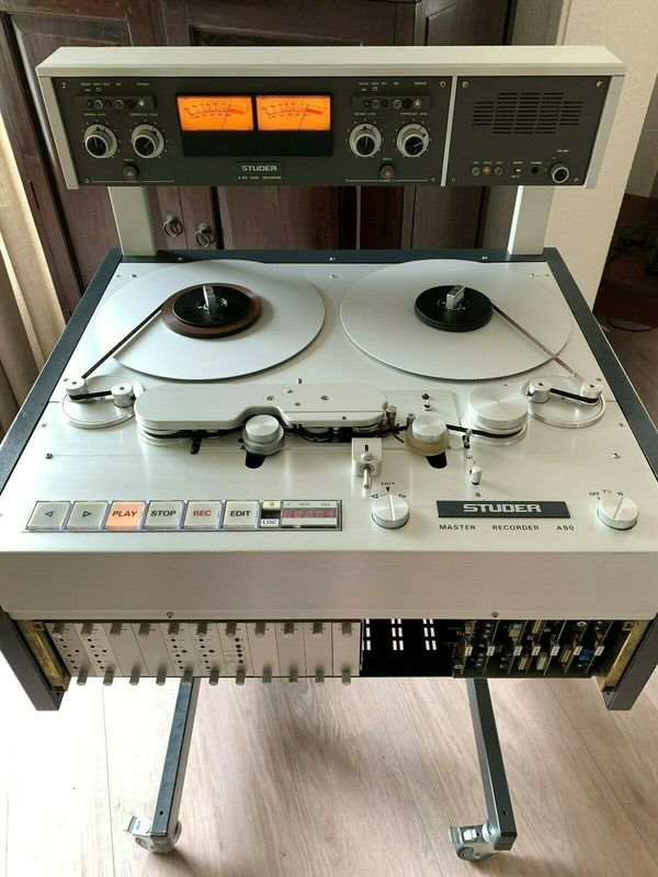 Studer A80RC mkII 14 2 track Masterrecorder with butterfly heads