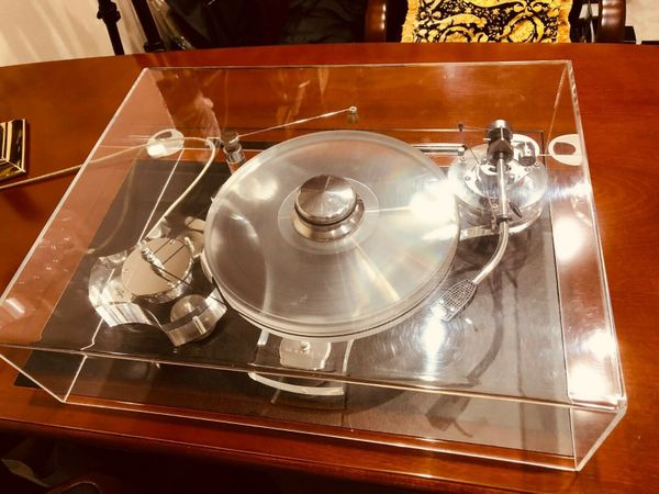 TRANSROTOR EISEN PLEXI + SME 3009 + Accuphase AC-2 Coil Audiophile Plattenspieler