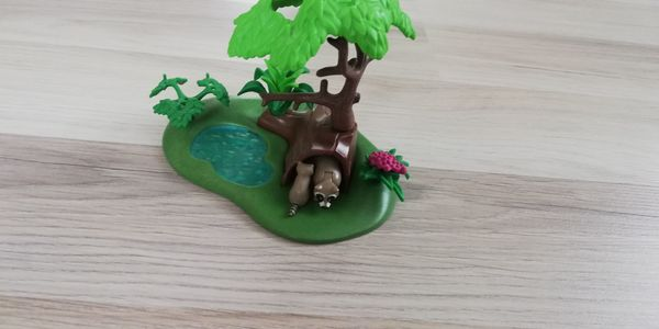 2 in 1: Playmobil Oase, Insel, Dachs Familie+ Playmobil Auto