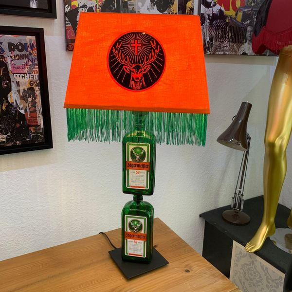 Two Bottle Jägermeister Lampe Upcycling