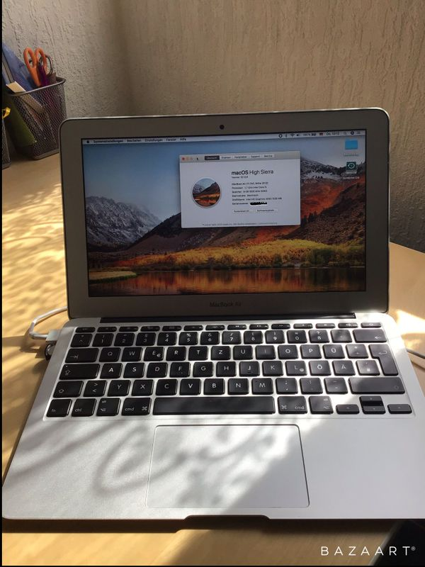 Apple Macbook Air 11 Zoll ende 2012 256 GB, 8 GB Ram