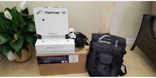 3D Flightscope X3 Launch Monitor Golf Simulator