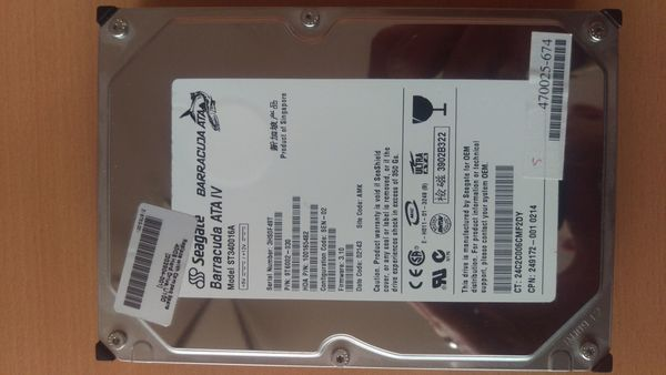 40GB HDD Seagate Barracuda ATA IV ST340016A IDE