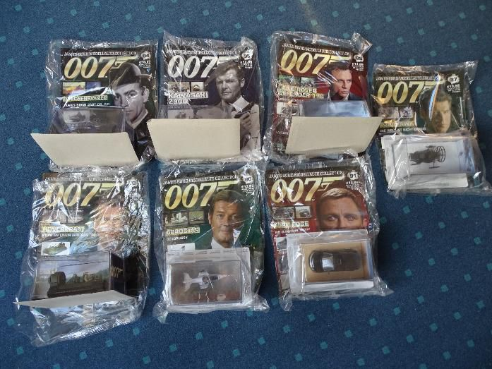 James Bond Modellautos -Nr. 6, 43, 84, 85,87,90,91,93,95