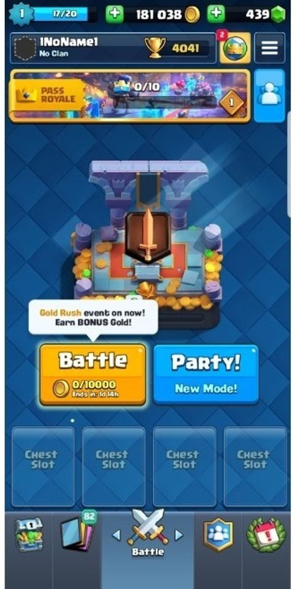 clash royale lvl 1 account
