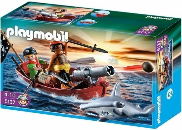 Piraten-Ruderboot mit Hammerhai Playmobil 5137
