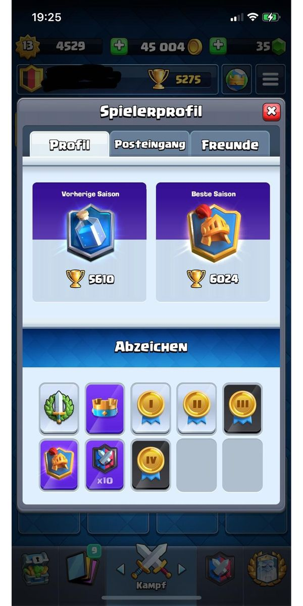 Clash Royale Account lvl 13(mit Wunsch Email)