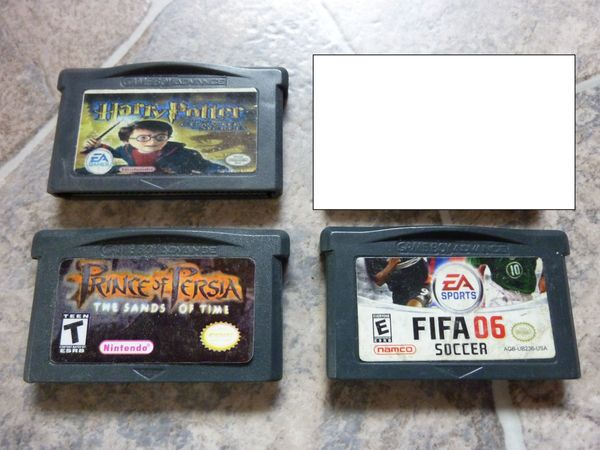 Nintendo Game Boy Advance Spiele Harry Potter, Fifa und Prince of Persia (The Sands of Time)