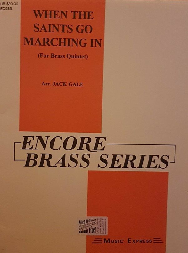 Noten Brass - Quintet When The Saints Go Marching In (arr. Jack Gale)