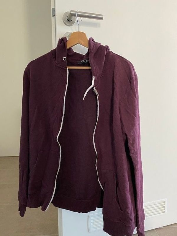 New Look Sweat-/Strickjacke, weinrot (M)