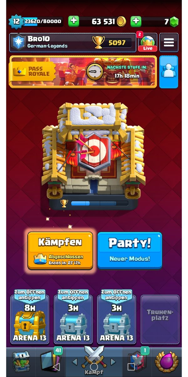 Top Clash Royal Account mit Supercell ID