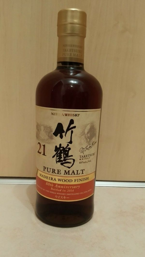 Taketsuru 21Y Madeira Wood Finish RARE 80th Anniversary Nikka only 546 Bottles
