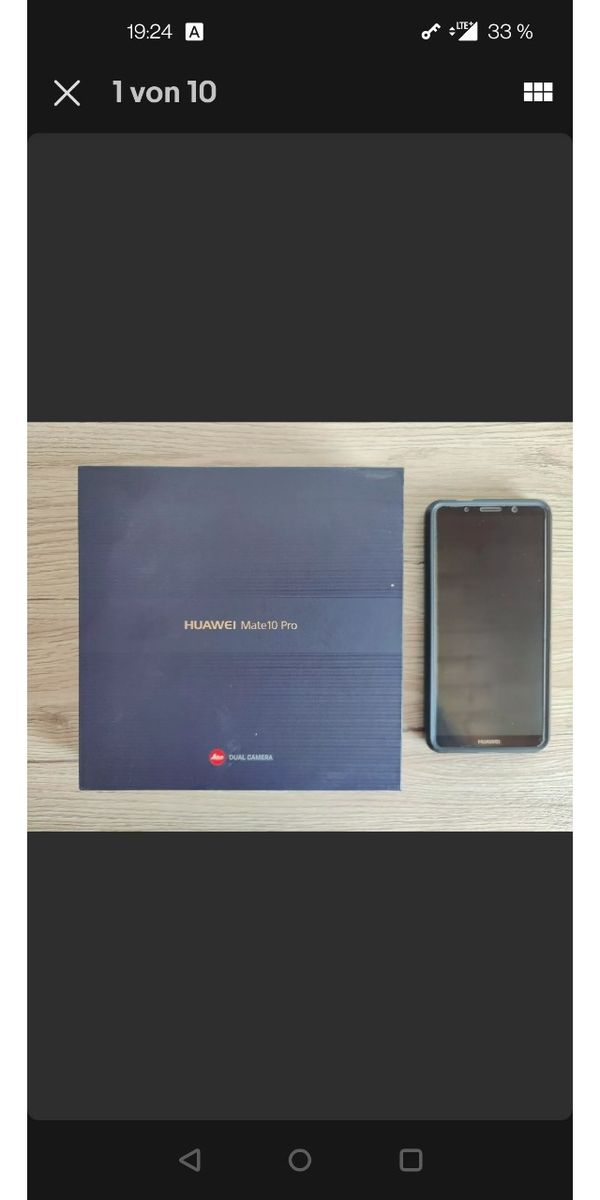 Huawei Mate 10 Pro 128 GB Set & Case & Folie Ovp