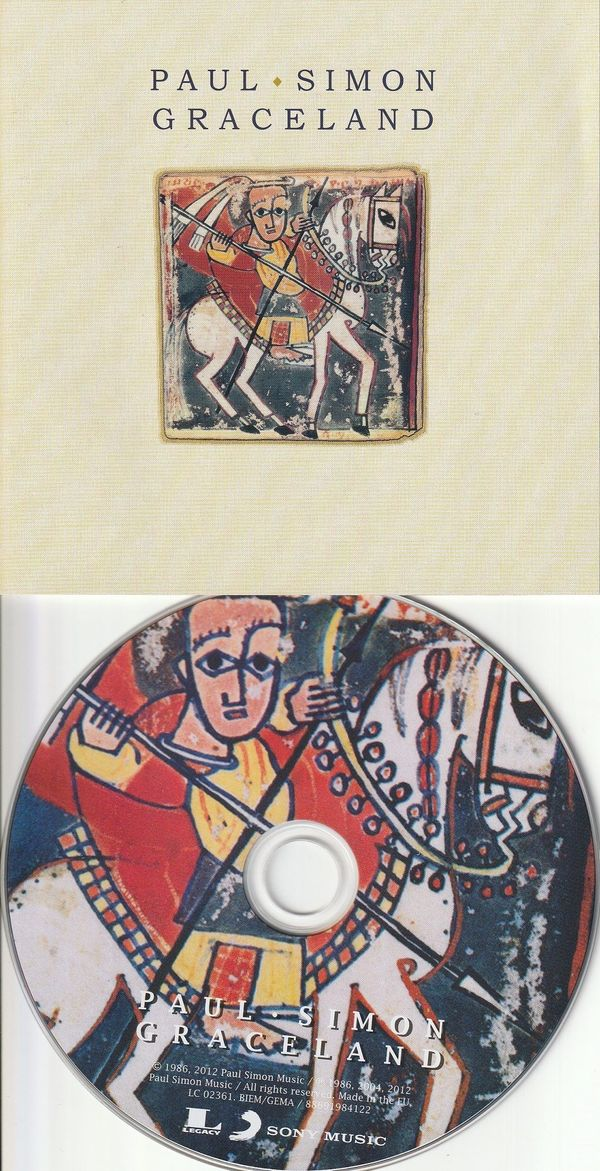 80`s Picture CD - Paul Simon - Graceland ( 15 Track Disc, Sony 1986 / 2012 )