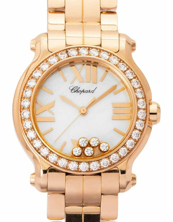 Chopard Happy Sport 274189-5007 Rosegold Quarz Uhr, 2012