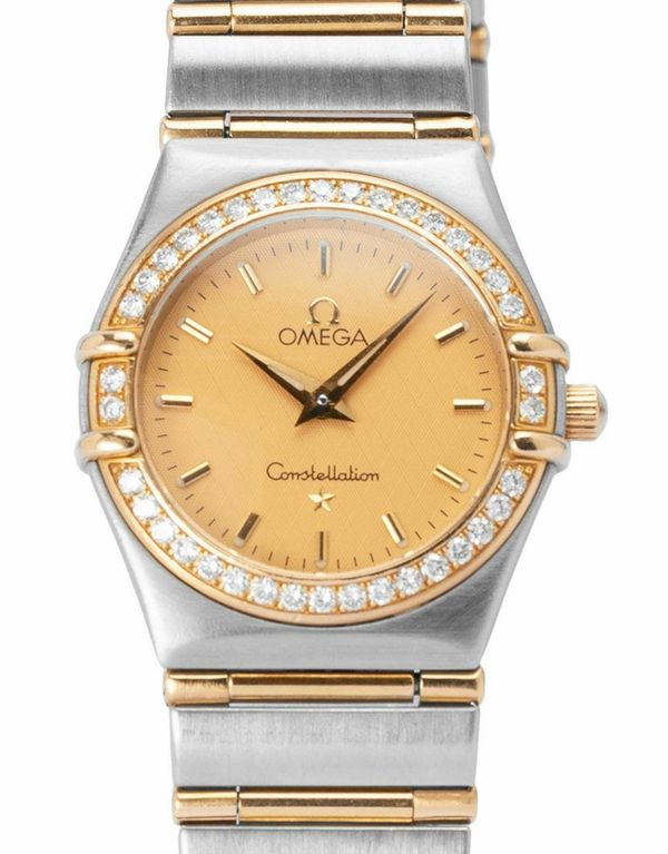 Omega Constellation Ladies 1277.10.00 Stahl Quarz Uhr, 1998