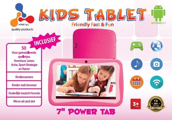 Kinder Tablet PC, Quadcore CPU, WiFi, Bluetooth, 8GB, Pink