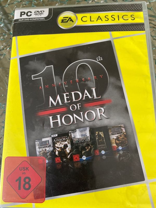 Medal of Honor 10th Anniversary PC DVD ROM selten!